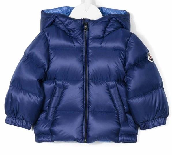 buy online 95126 534c6 MONCLER Giubbotto New Macaire blu-azzurro bambino