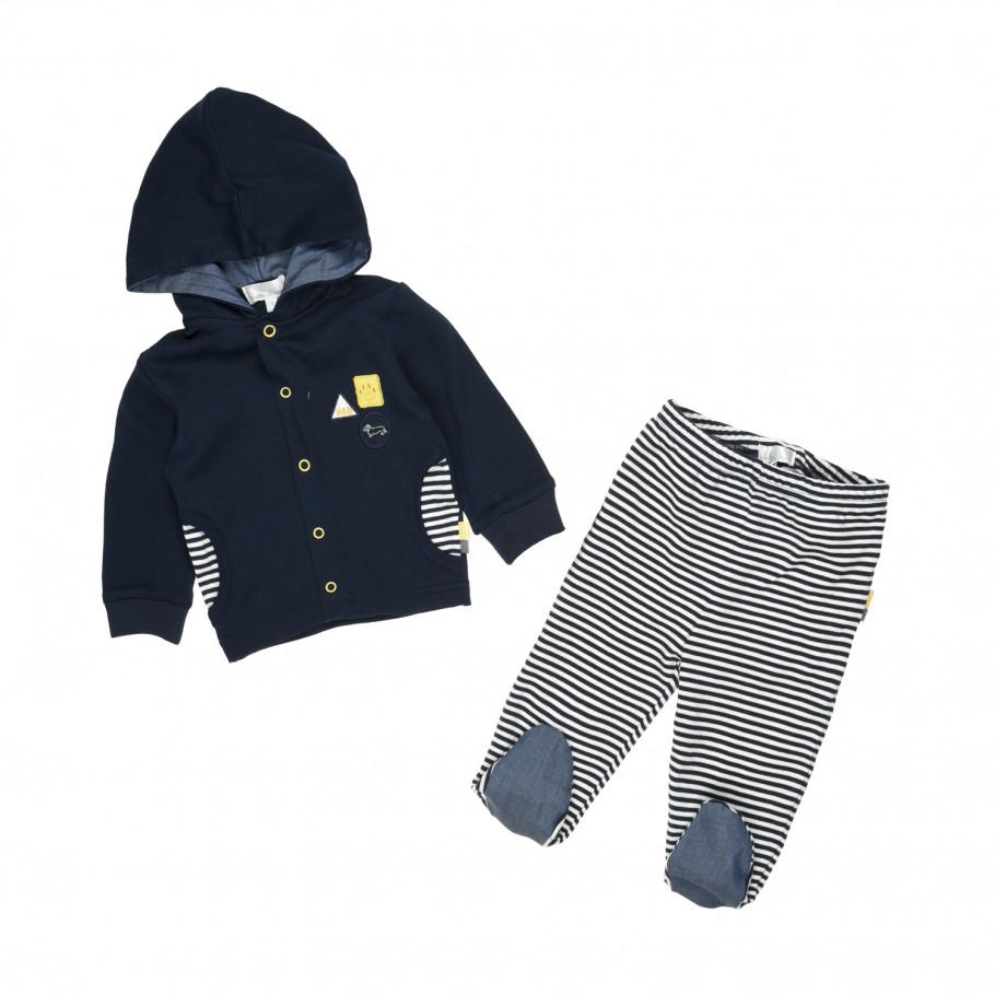 prezzo all'ingrosso vendita di liquidazione prese di fabbrica HARMONT & BLAINE Completo coprifasce 2 pezzi blu-righe bambino
